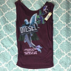 NWT Diesel Purple Blouse XS